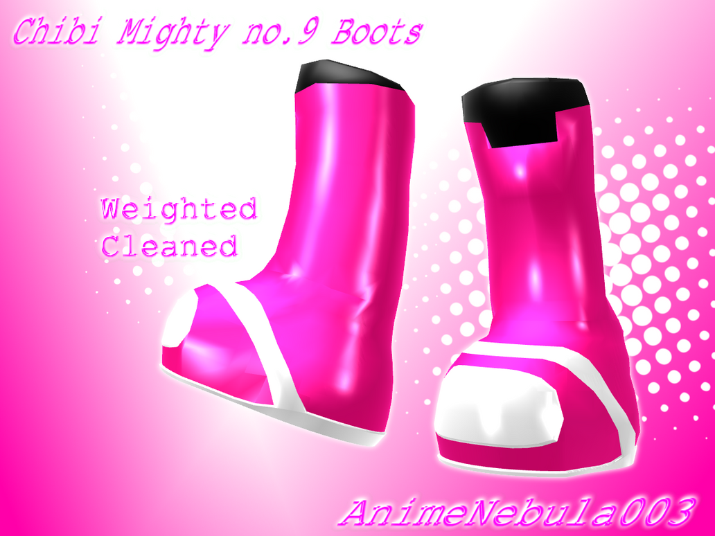 Chibi Mighty no.9 Boots - AN003 by AnimeNebula003