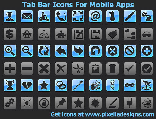 Tab Bar Icons For Mobile Apps by familyguyaim81