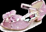 Pink glitter shoe