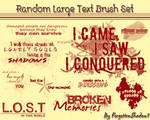 Random Large Text Brush Set