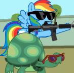 Rainbow Dash and Tank! by CertaintyPrinciple