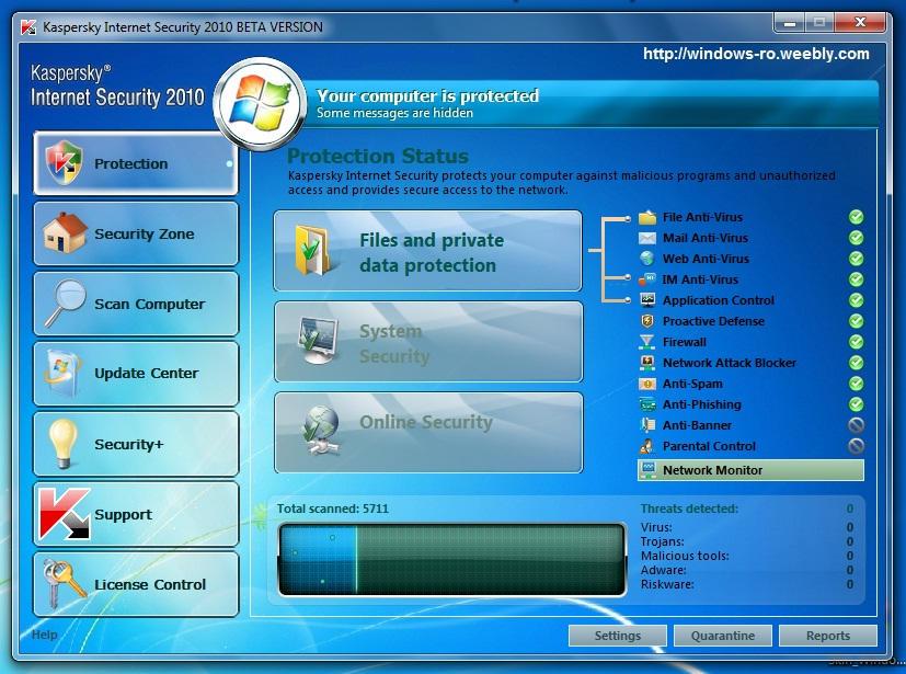 Скачать бесплатно Kaspersky Internet Security 2010 9.0.0.300 Beta с.
