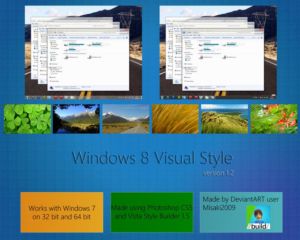 """Windows 8 VS """"v1.2"""" by Misaki2009"""