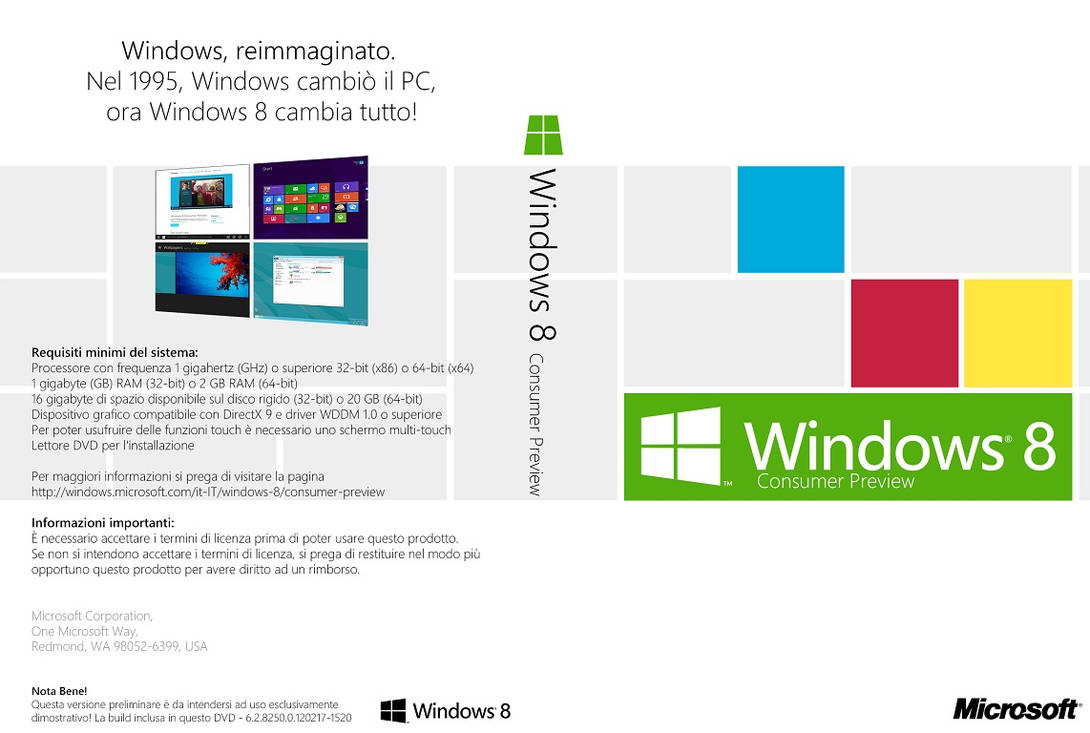 Windows 8 Consumer Preview DVD Cover (it-IT) by Misaki2009