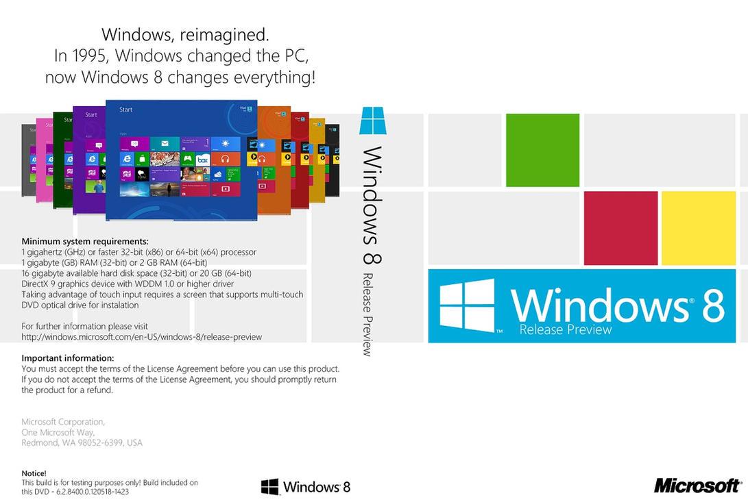Windows 8 Release Preview DVD Cover (en-US) by Misaki2009