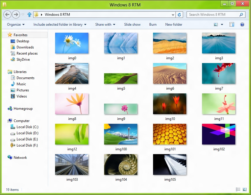 Windows 8 RTM Wallpapers