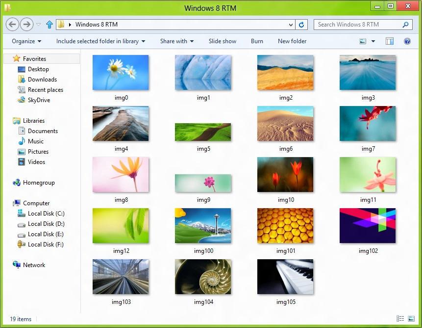Windows 8 RTM Wallpapers By Misaki2009