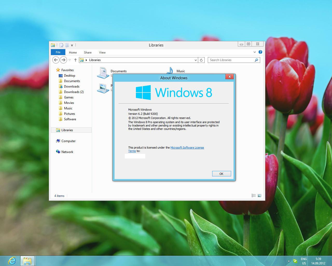 Windows 8 RP Visual Style on Windows 8 RTM by Misaki2009