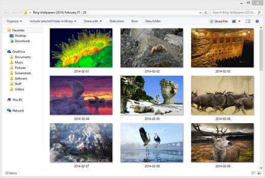 Bing Wallpapers (2014) February 01 - 28