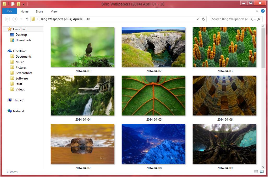 Bing Wallpapers (2014) April 01 - 30 by Misaki2009