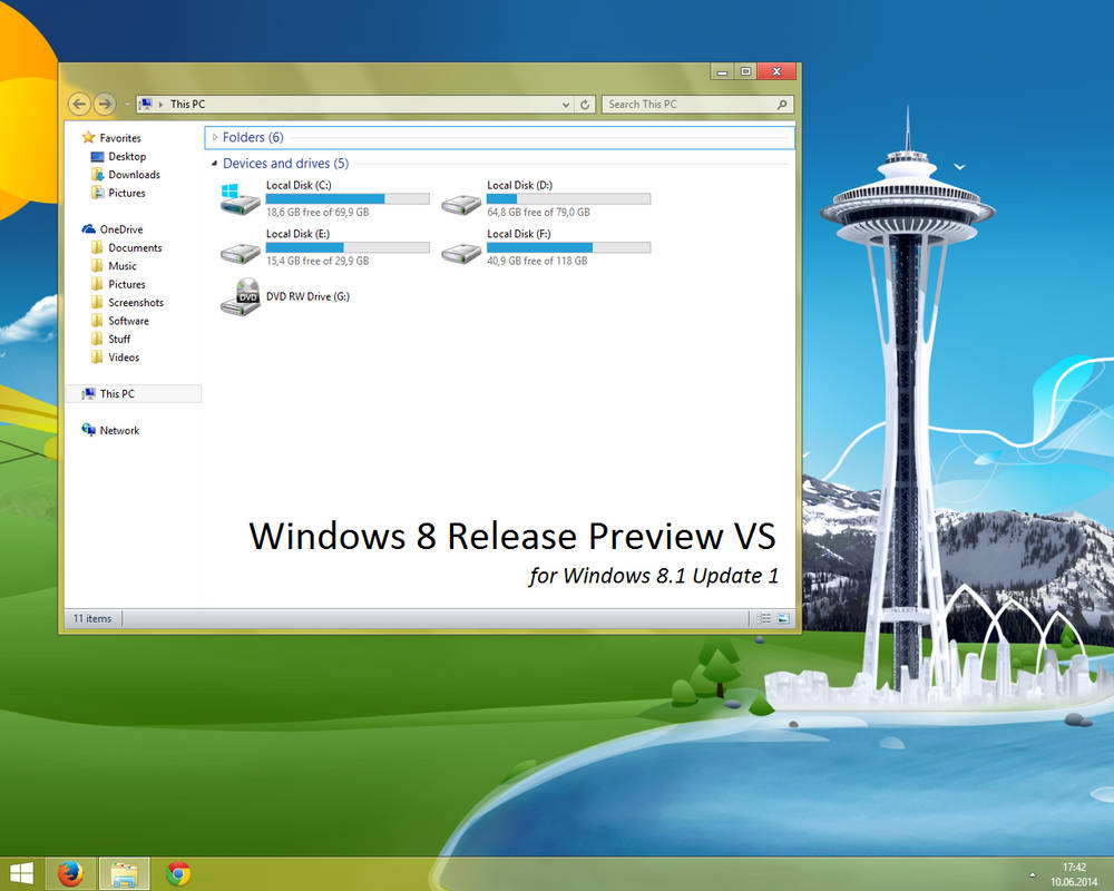 Windows 8 Release Preview Vs For Windows 8 1 1 By