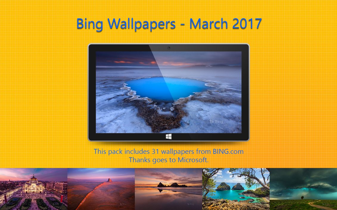 Bing Wallpapers - March 2017 by Misaki2009