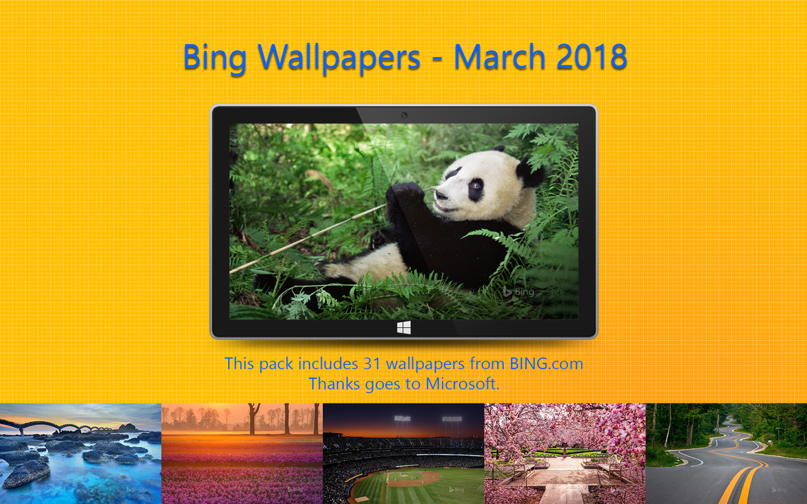 Bing Wallpapers - March 2018 by Misaki2009