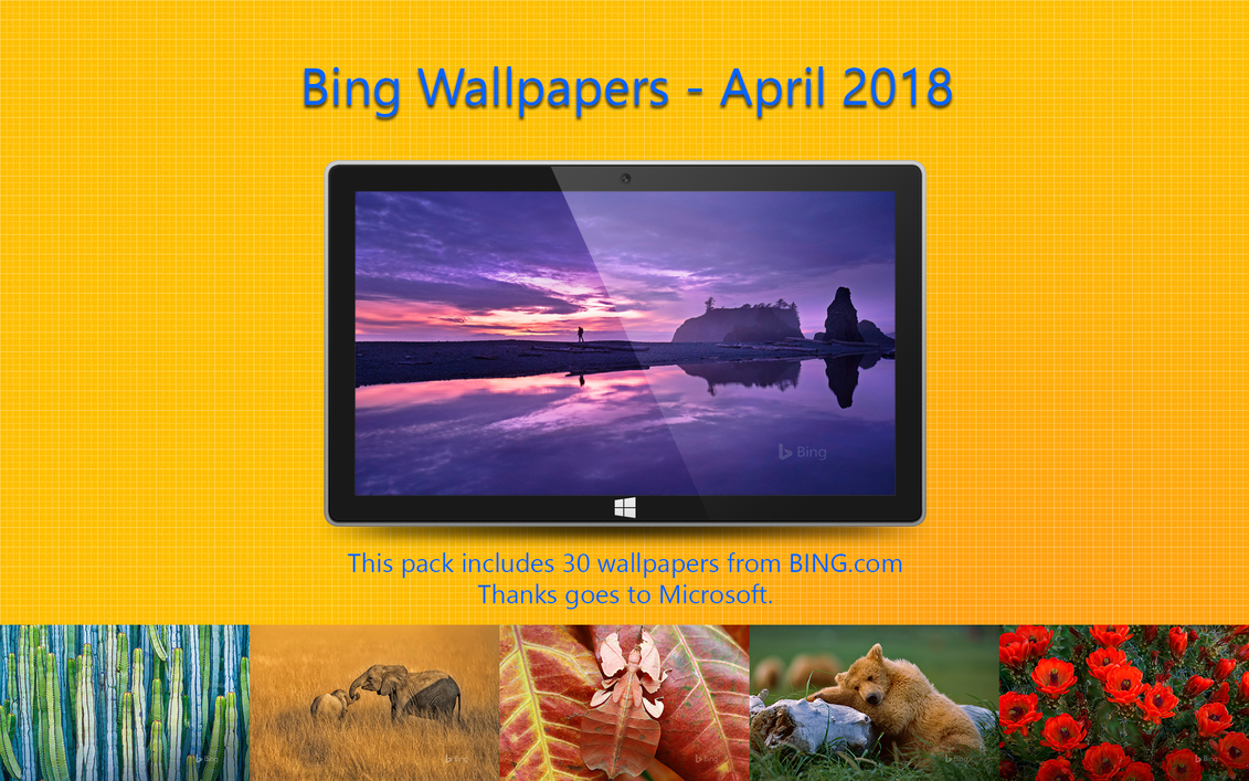 Bing Wallpapers - April 2018 by Misaki2009
