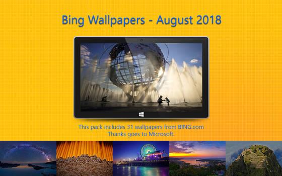 Bing Wallpapers - August 2018