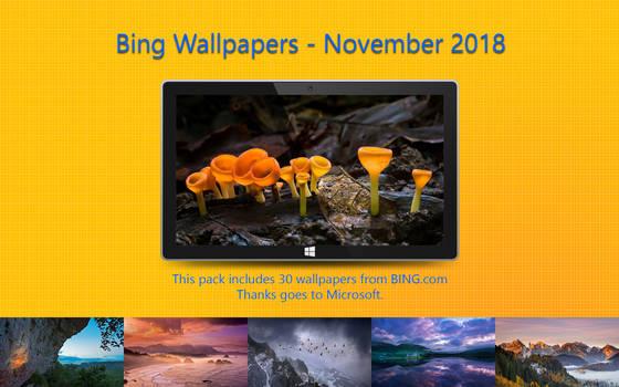 Bing Wallpapers - November 2018