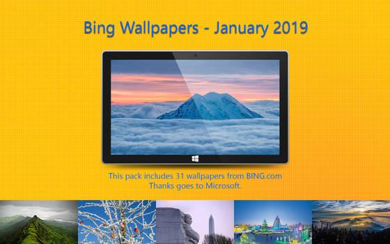 Bing Wallpapers - January 2019
