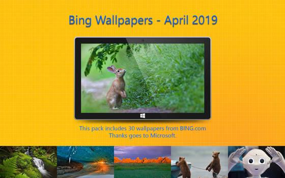 Bing Wallpapers - April 2019
