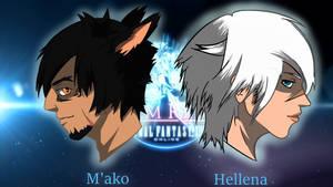 M'ako and Hellena by Zavier4lexander
