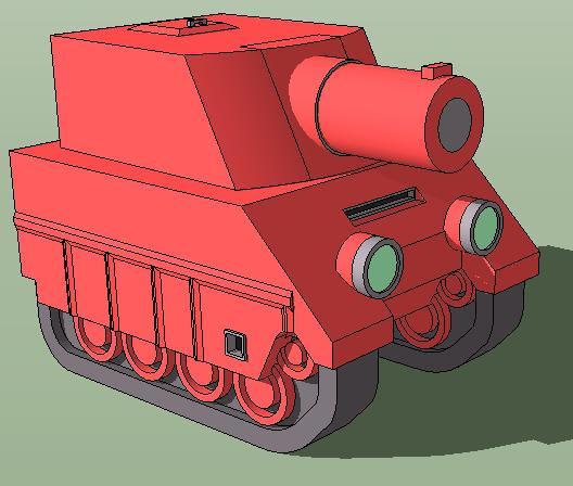 Orange Star Md Tank by Skyblufox