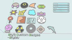 My Custom Badges. by Skyblufox