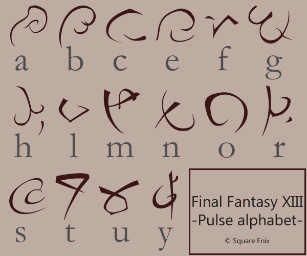 Final Fantasy 13 - Pulse font by rockstarREMIX on DeviantArt