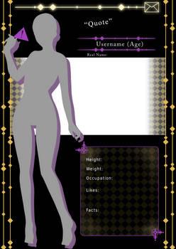 [F2U] Mystic Messenger Character Template