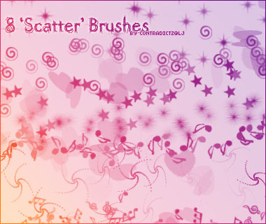 8 Scatter Brushes by contradictz
