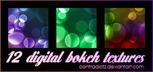 12 Icon-sized Digital Bokeh Textures