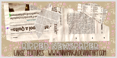Ripped Newspaper Textures by FishboneArt