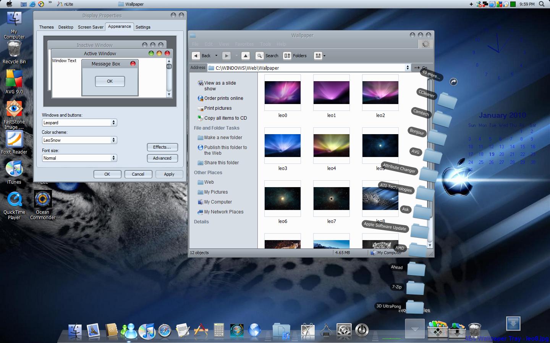mac leopard theme for windows 7