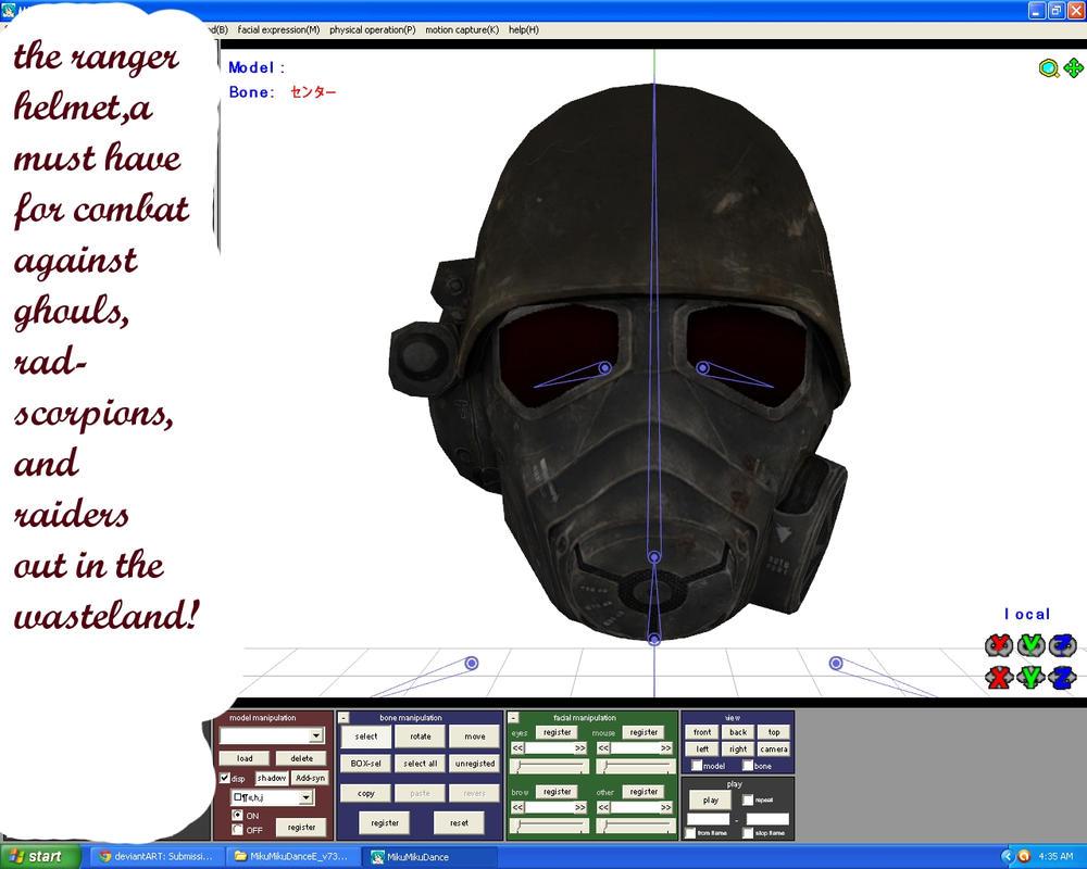 FO:NV desert ranger helmet + DL by sky-commander