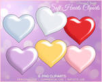 DC - Soft Hearts - 6 PNG Cliparts by DreamyCliparts