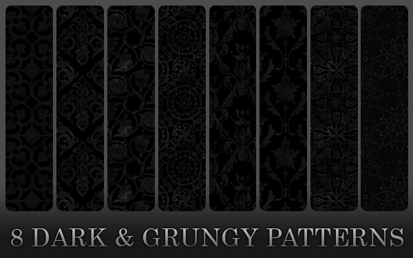 Dark Seamless Patterns Photoshop By Anulubi Deviantart – Dibujos