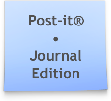 Blue Post-it by Ikue