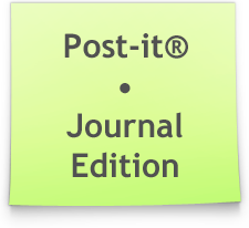 Green Post-It by Ikue