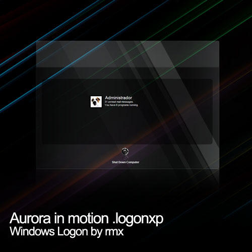 Aurora in motion logon by realmotion