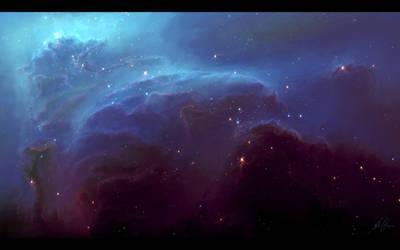 The Mountain Nebula by TylerCreatesWorlds