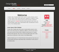 Portfolio Website PSD by Its-Meeee