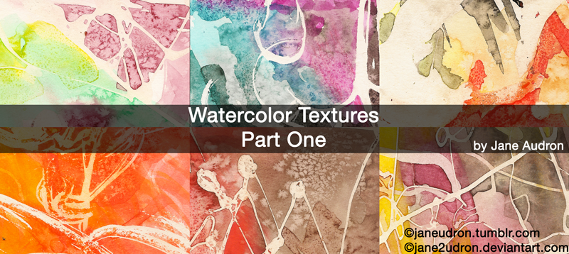 Watercolor Textutes Part One by Jane2Audron