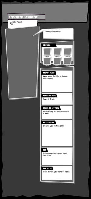 Monster High profile template new layout
