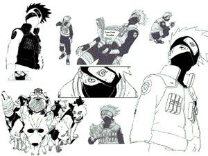 Naruto-Kakashi PS 6 Brushes by cdkobasiuk