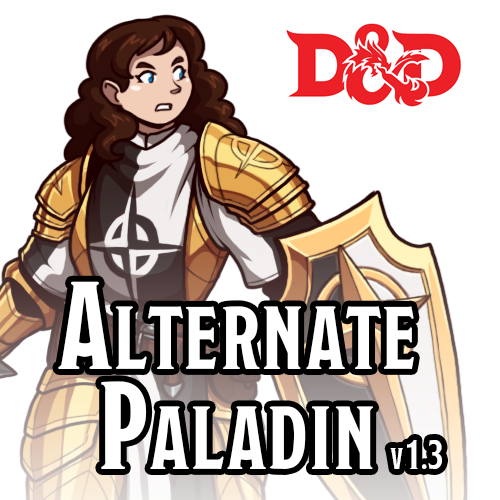 DUNGEONS AND DRAGONS 5E: Alternate Paladin v1 3 by Blazbaros on
