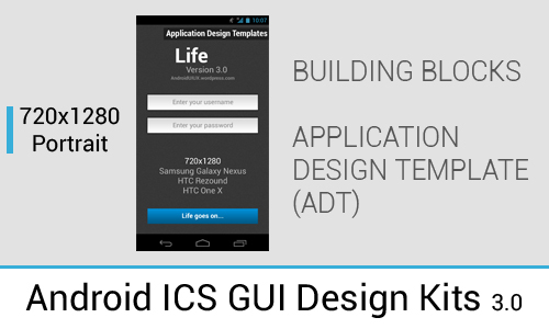 Android 4.0+ ICS/JB GUI Design Kits in PSD