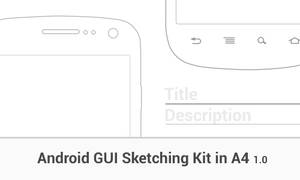 Android A4 GUI Sketching Kit - Nexus S