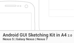 Android A4 GUI Sketching Kit - Nexus 7 (Landscape) by ghost301