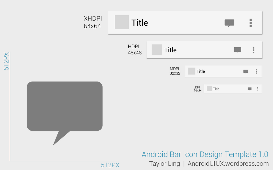 Action Bar Icon Design Template by ghost301