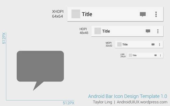 Action Bar Icon Design Template