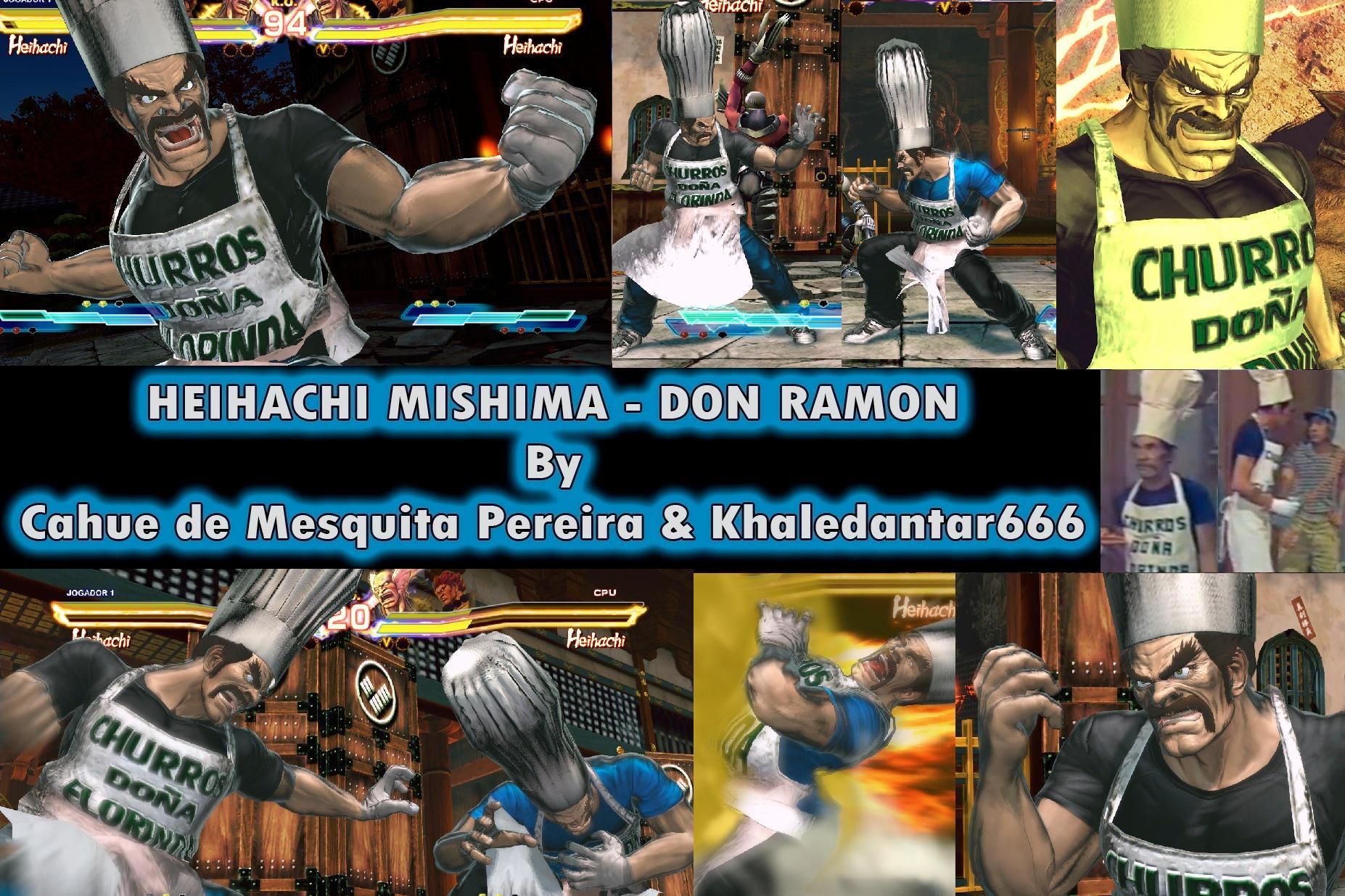 Heihachi Don Ramon Churros- Sr. Madruga by cahuesnk