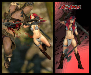 Red Sonja for XPS! by CaressingCarrots